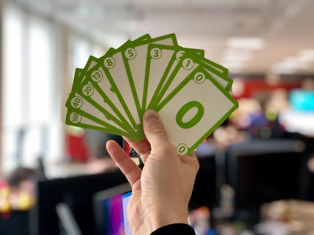 Planning poker, estimation cards
